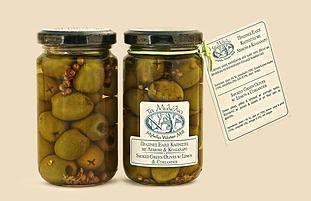 Smoked Green Olives with Lemon & Coriander #Mylelia #GreekOlives #Smoked #GreekProducts