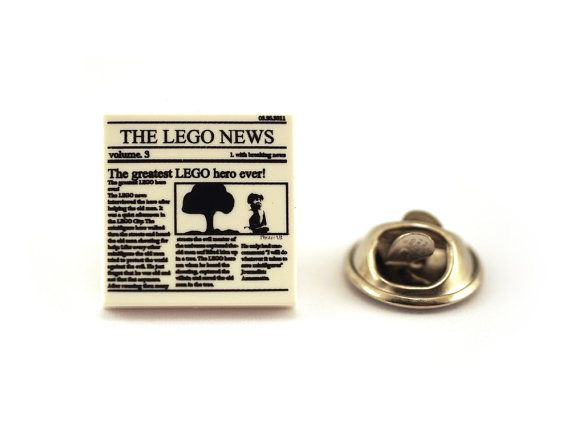 It's 'The LEGO News' Read all about it Tie Pin Tie Tack by Pinhero