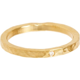 Gold Hammered Ring.  Would love this as a simple wedding band