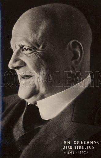Portrait of Jean Sibelius, Finnish composer.