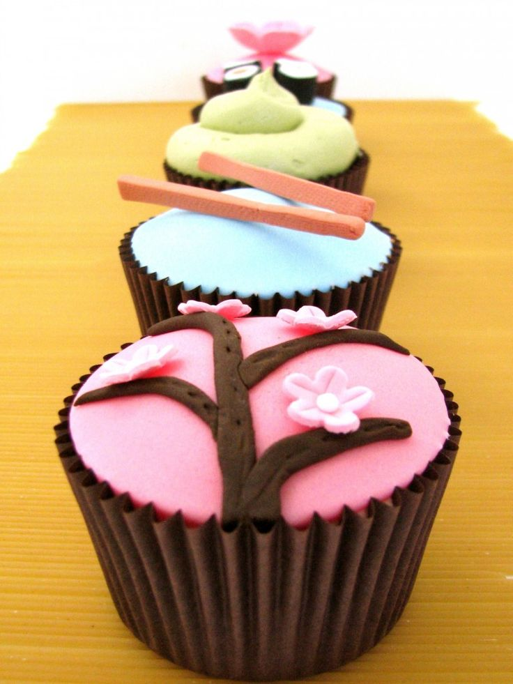 9 Best Japanese Theme Cupcake Ideas Images On Pinterest