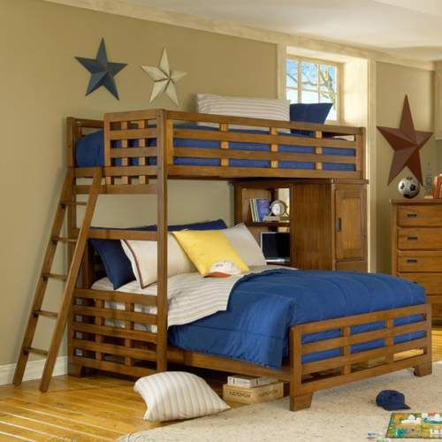 free bunk bed plans twin over queen woodworking projects plans. Black Bedroom Furniture Sets. Home Design Ideas