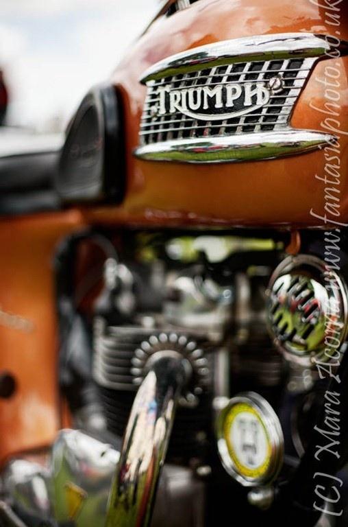 Old Triumph Motorbike
