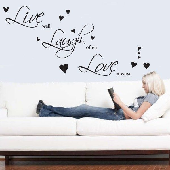 Live Laugh Love Set of Wall Stickers XL