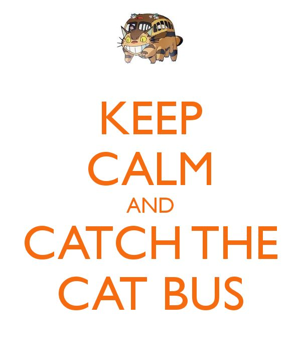 Keep calm and catch the cat bus