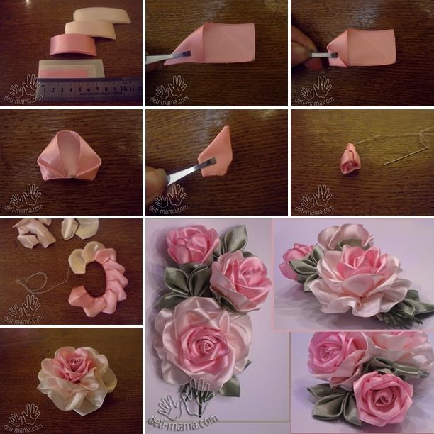 These Amazing Satin Ribbon Roses Will Make a Perfect Decor - http://www.amazinginteriordesign.com/amazing-satin-ribbon-roses-will-make-perfect-decor/