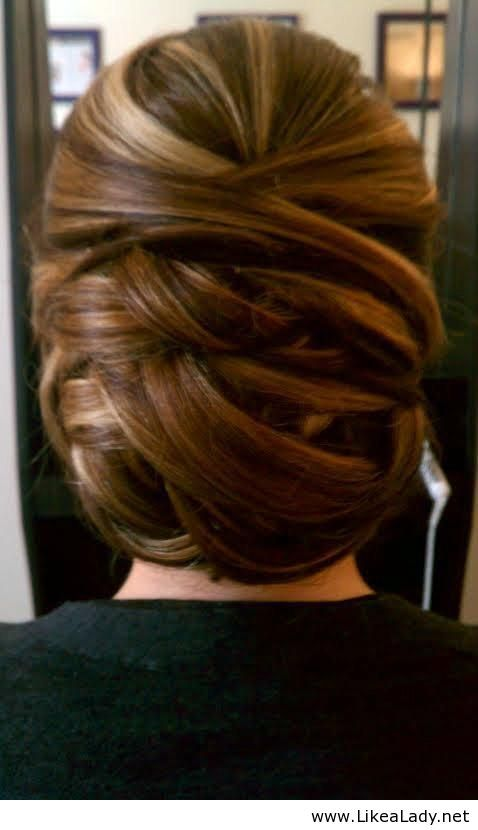 Hairstyle - great for under a veil