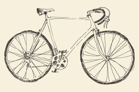 Bicycle illustration by grop on Creative Market
