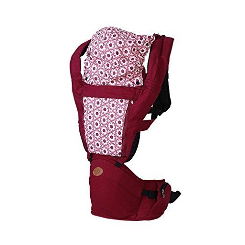 BINGONE Comfortable Breathe Freely Style Multifunction Soft Toddler Baby Carrier with Wood and Sun Shade Red >>> Check out this great product.