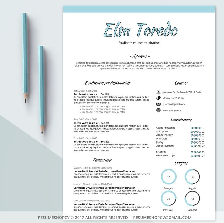 Best Cv Graphique Images On   Resume Resume Design