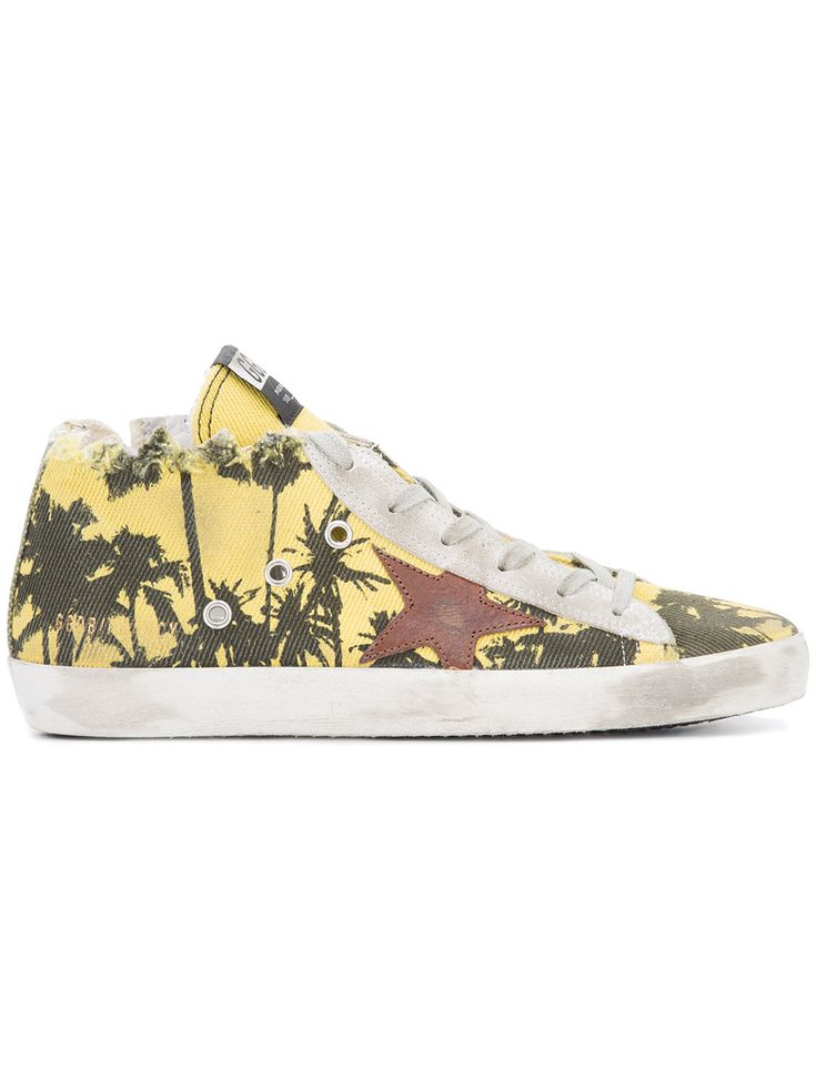 palm tree print sneakers #Shoes #GOLDEN