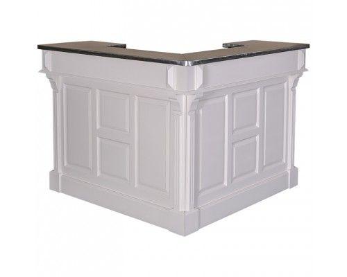 Comptoir bar d 39 angle en bois d 39 pic a ou de ch ne 100 for Bureau d angle en bois massif