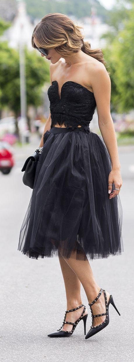 Caroline Berg Eriksen Black Tulle Skirt