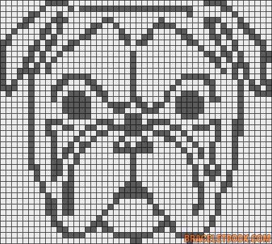 Bullmastiff dog perler bead pattern