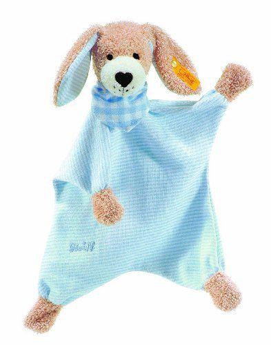 """Süßes neues Schnuffeltuch """"Steiff 238024 - Gute Nacht Hund Schmusetuch 28 cm, beige / blau"""" jetzt erhältlich: http://www.schnuffeltuch.net/steiff-238024-gute-nacht-hund-schmusetuch-28-cm-beige-blau/"""