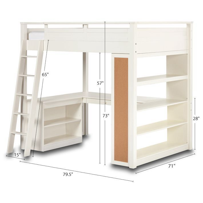 17 best images about beds on pinterest built in bunks for Study bed plans