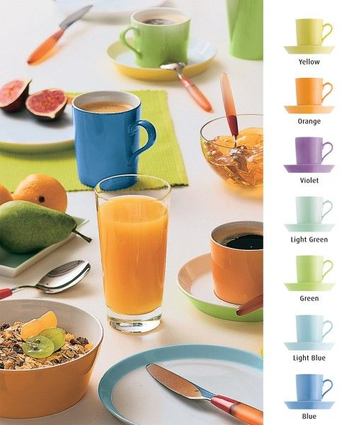 ARZBERG PORZELLAN | Kollektion > Formen > TRIC Meine Farben: yellow, orange, green, blue