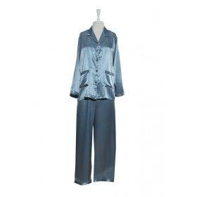 Pyjamas - Silk Satin - Blue