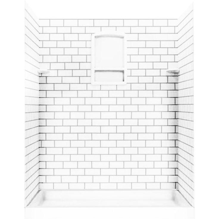Swanstone STMK72-3636-010 Subway Tile Shower Wall Kit, 36x36x72 - White