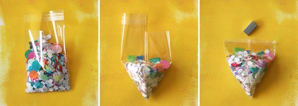 Confetti Triangle Invitations |