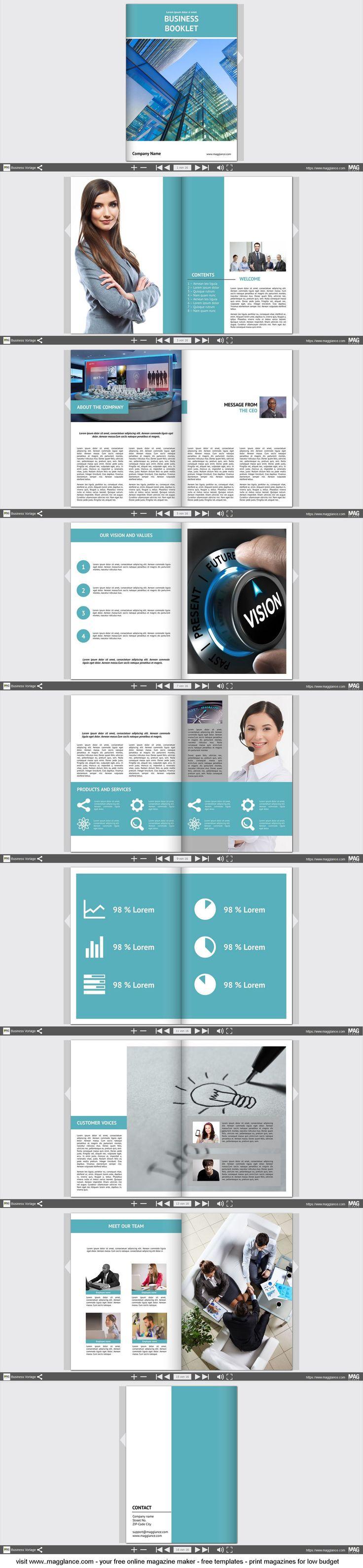 Business Broschüre kostenlos online erstellen und günstig drucken unter https://de.magglance.com/Magazine/43d79ae8457e2bb843ced73494c44027/white  #Broschüre #Vorlage #Design #Muster #Beispiel #Template #Firmenzeitung #Layout #Erstellen #Gestalten #Cover