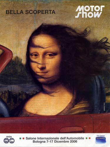 La Gioconda di Leonardo si sa, è come la Ferrari e la Coca Cola, un' icona visuale talmente popolare, commerciale e mistificata, da ormai smarrire tutto il