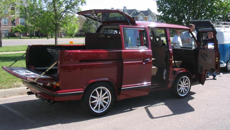 Nice color-Custom Vanagon DoKa, Subaru powered.  completely AWESOME!