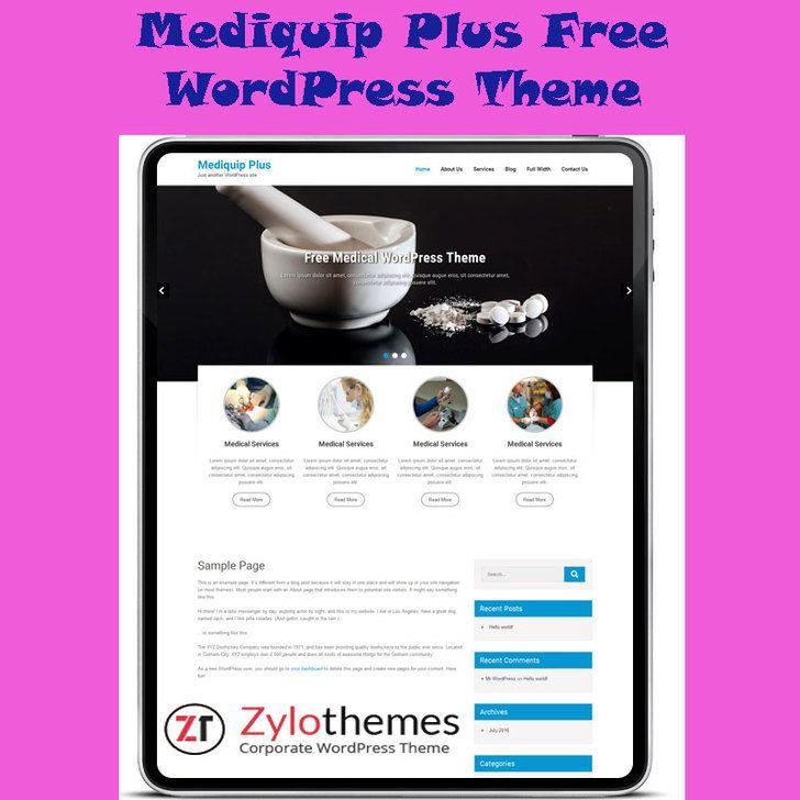 Mediquip Free Medical WordPress Theme