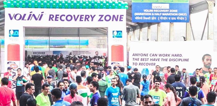 200 #Volini Recovery Experts Help Over 13000 Runners Recoup at the Standard Chartered Mumbai Marathon 2017 #SCMM2017