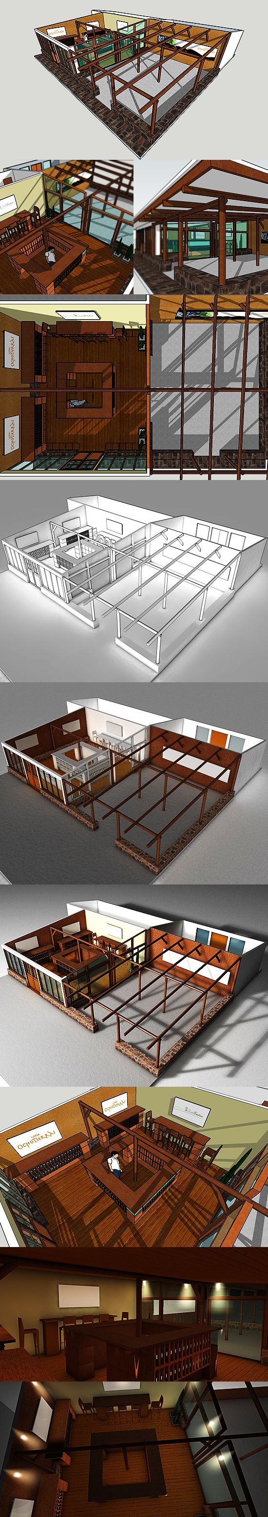 2009 - 8 Tierras on Behance #3D #design #sketchup #cinema4D
