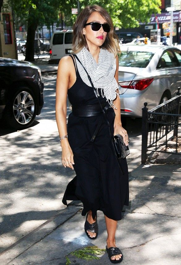 15+Celebrity+Outfit+Ideas+Perfect+for+the+End+of+Summer+via+@WhoWhatWear