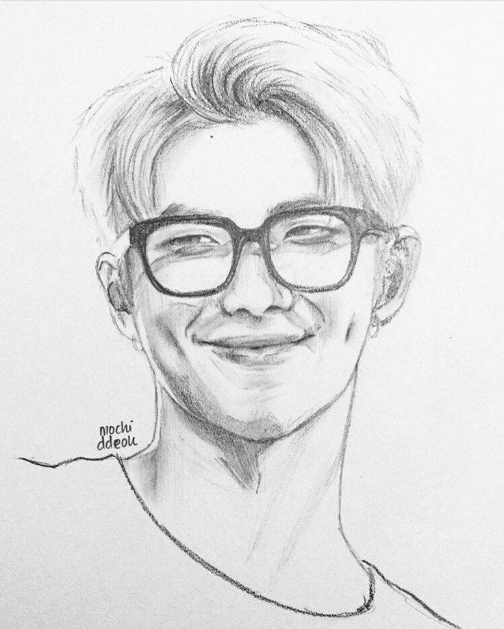 Namjoon Fanart | Наброски, Рисунки, Рисовать
