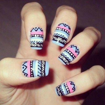 Tribal Nails   via Tumblr