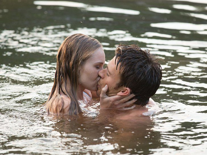 Pin for Later: 24 Movie Kisses From This Year's Movies That Can Still Rock Your World The Longest Ride Wet and shirtless? Britt Robertson had a lovely day at the office when shooting this scene with Scott Eastwood, I'm sure.
