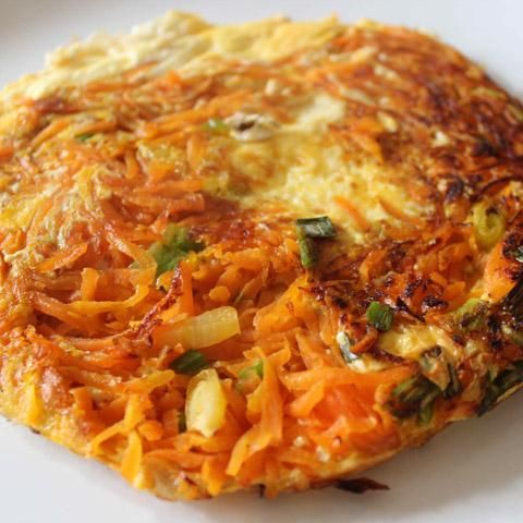 Chilean Tortilla. Egg and shredded potato with the addition of carrots and semi dried tomatoes. If you like CHILEAN cooking why not try a FOOD TOUR on your next trip to CHILE. Find out more at: http://www.allaboutcuisines.com/food-tours/chile/in/chile #Chilean Recipes #Chilean Food #Travel Chile