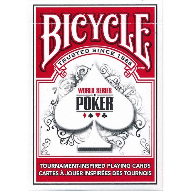 WSOP Bicycle speelkaarten zijn toernooi geïnspireerde speelkaarten voor het spelen van pokeren. De World Series of Poker en Bicycle kaarten hebben samen deze toernooi geïnspireerde speelkaarten gecreëerd dat het rijke erfgoed van beide merken vertegenwoordigt. De United Staten Playing Card Company.