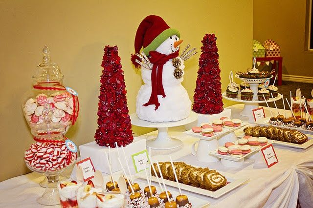 christmas desert cakes | Christmas dessert table Snowman on cake plate and mugs ... | Christma ...