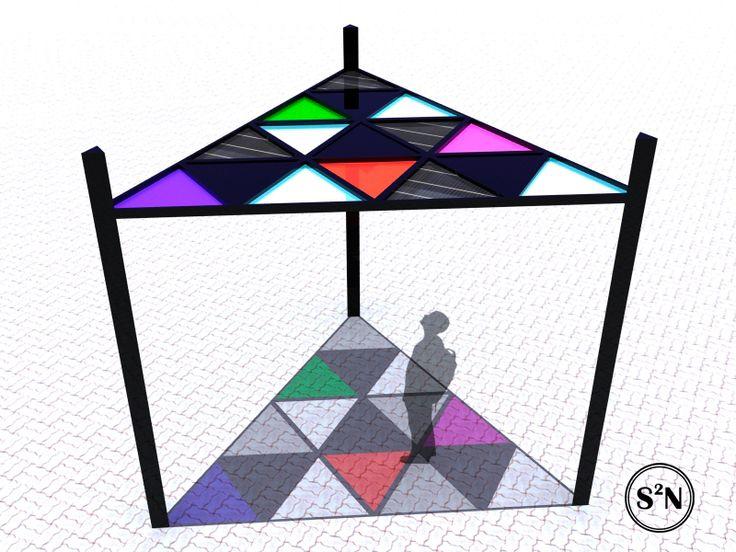 Tetraktys: Techo para Calle Peatonal - Pedestrian Street Canopy - ssancheznapal's portfolio on archcase