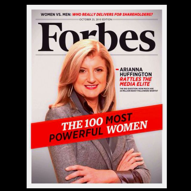Be this women. Cover of Forbes Magazine. The 100 Most Powerful Women