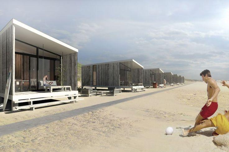 Slaapstrandhuisjes op de mooiste locaties in Nederland