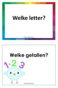 Twee PowerPointspelletjes voor de kleuters en groep 3. In de een zoeken de kinderen de missende letter en in de andere tellen ze hoeveel ze zien. Mijn kleuters waren er erg enthousiast over!