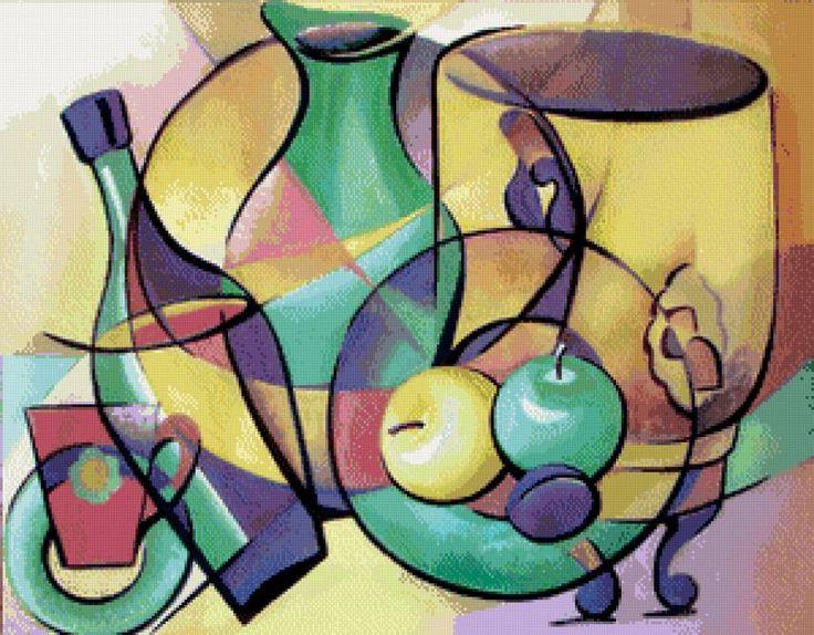 абстракция в натюрморте, предпросмотр