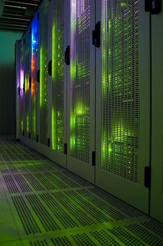 Blinking Lights At Night Data Center Evolution
