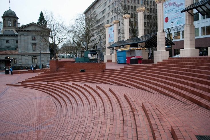 8 Examples of Ramps Blended Into Stairs -- could this brick paver example be a slippery slope?