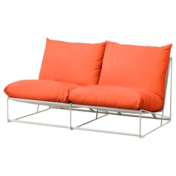Https Www Ikea Com No No P Havsten 2 Seters Sofa Inne Utendors Uten Armlener Oransje Beige S19282617 Ikea Love Seat Sofa Ikea