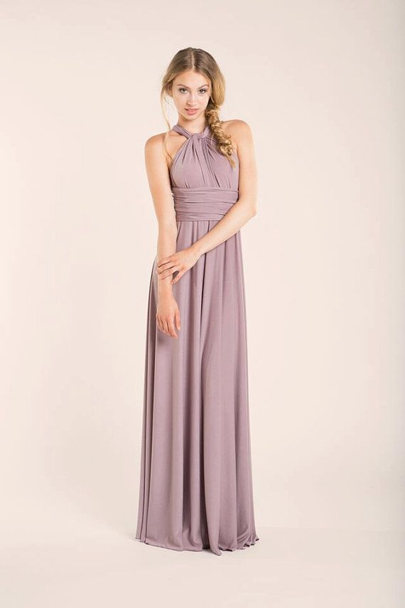 Dusty pink bridesmaid dress Dusty rose long infinity by mimetik