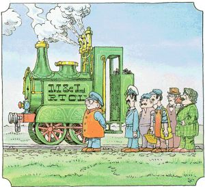 'Ivor the Engine' a children's animation all about a green steam engine, based in Wales. Happy memories.
