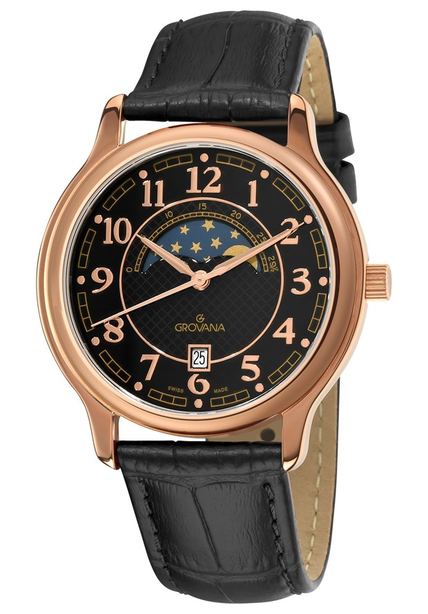 Price:$259.94 #watches Grovana 1026.1567, Grovana is a firm that has made a name for itself in the Swiss watch making industry through innovation and flexibility. Up to the 1970s it made mechanical watches that were always state of the art.