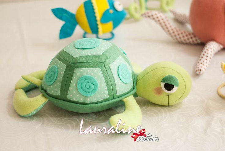 Festa Fundo do Mar - Tartaruga Marinha #lauralineatelier #fundodomar #festafundodomar #feltro #seaworld #tartarugamarinha #tartaruga #turttle #tartarugadefeltro
