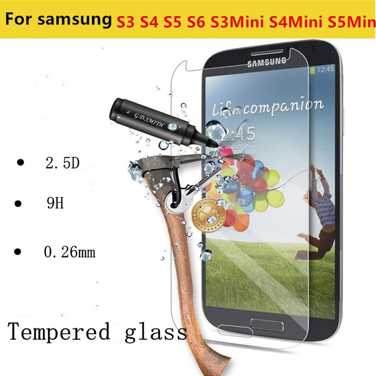 Premium 0.26mm 2.5D 9H Tempered Glass Film Explosion Proof Screen Protector for Samsung Galaxy S3 S4 S5 S6 S3mini S4mini S5mini
